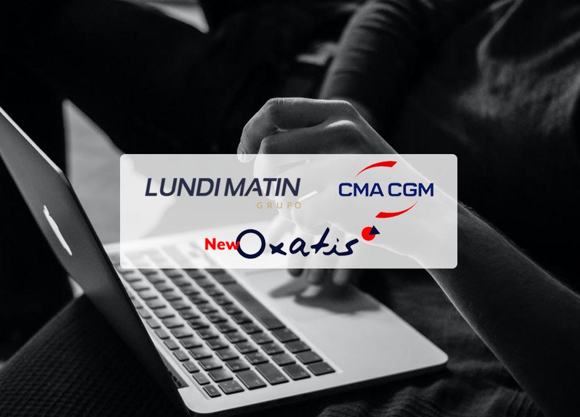 Colaboración LUNDI MATIN x CMA CGM x NEW OXATIS